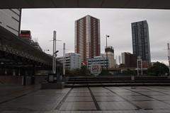 浜松駅の昼過ぎは雨だった
