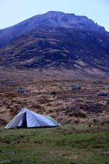 (gajtalbot) Tags: camping mountains landscape scotland highlands scenery tent april glenetive westhighlands 2011