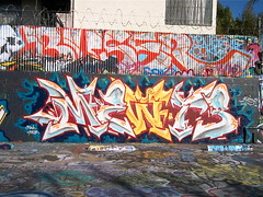 Mewts KND (El Funky Taladro) Tags: santa county red orange costa graffiti ana lab trains whites graff yellows anaheim mesa bombing mck ruche freights rusk knd rusko mewt mewts mewtr