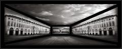 "San Carlo Square - Turin, Italy (Alessandro Cerato ""Cherry"") Tags: italy white black photoshop square cherry torino san italia panoramic piemonte e panoramica carlo piazza turin bianco nero alessandro cerato"