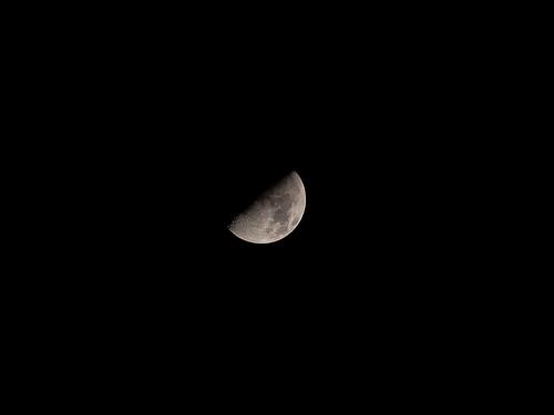 Half moon 11 April 2011