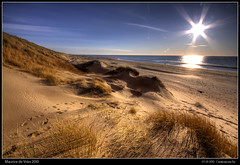 Castricum - Sunset on Beach (DreamScapes - Maurice) Tags: sunset sea holland beach water strand sunrise canon landscape sand dunes dune north duinen hdr castricum landschap 50d duinreservaat dunereserve dreamscapesmaurice