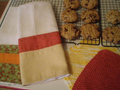 Tea towels, dish cloths and cookies