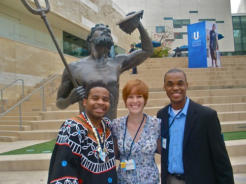 Peter Naster, Emily Sessoms (Class of 2013) and Derick D. Dailey