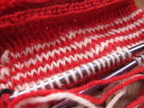 Twined Knitting Close Up