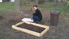 Our completed raised garden bed
