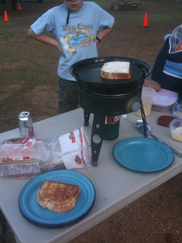 grilled cheese for dinner at camp tonight