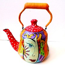POP ART - teapot (**mira pinki krispil-colors of life ***) Tags: art handmade fimo clay pinki polymer mirakris
