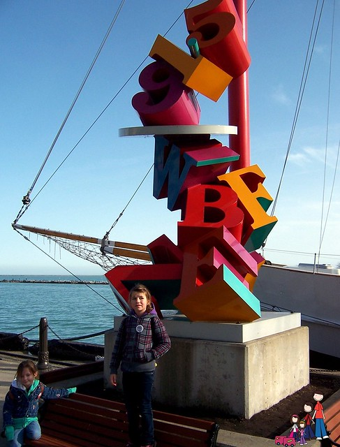 Letters Sculpture at Navy Pier
