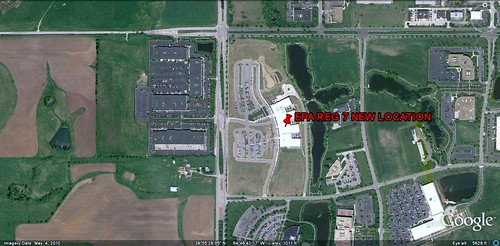 location of new EPA Reg 7 HQ (via Google Earth)