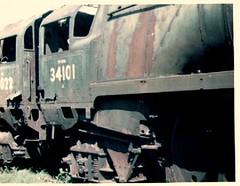 34101 at Woodhams scrapyard 1976/77 (Spearmint100) Tags: abandoned barry scrapyard 1977 locomotives uksteam woodhams britishsteamlocomotives
