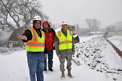 USACE inspects Valley City levees (USACE HQ) Tags: flooding northdakota redriver usace usarmycorpsofengineers valleycity levees barnescounty floodfight stpauldistrict baldhilldam