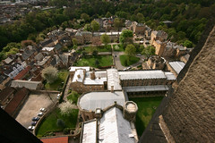 lead roofs (Flamelillyfox) Tags: old tower buildings town durham view rooftops cathedral