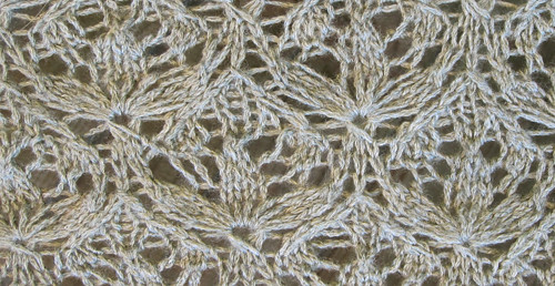 Eddie's Echo Flower shawl
