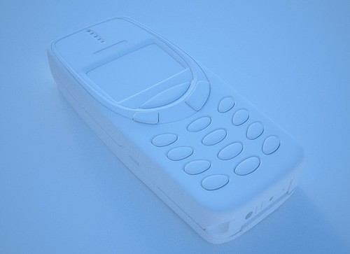Nokia 3310 clay render