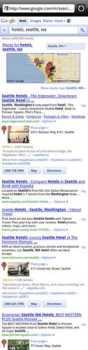 Android Phone Screen Grab of Google Search Results