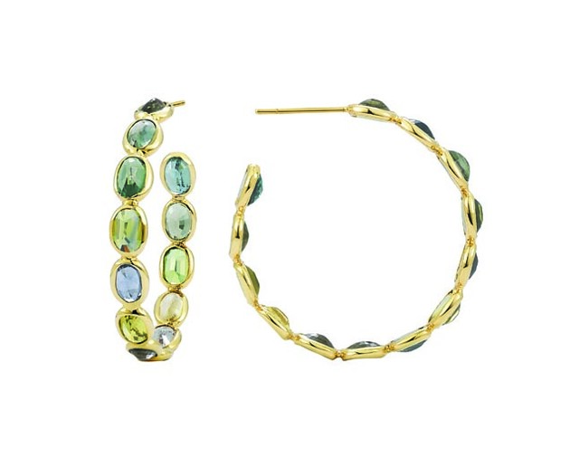 Paolo Costagli Ombre Hoops Green Sapphire