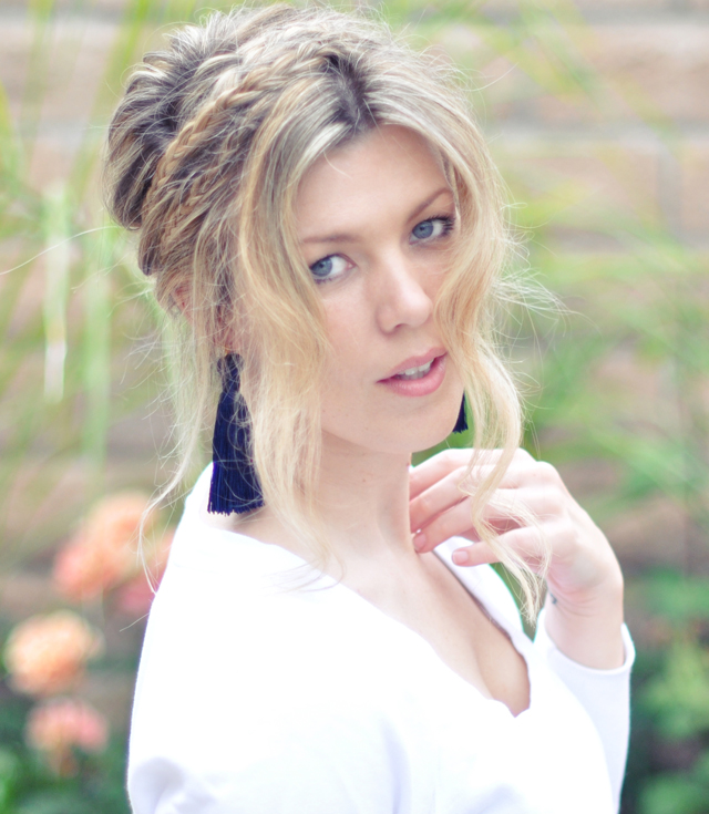 Messy Rope Braids hair tutorial -front and tassel earrings