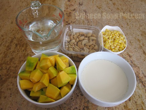 [Photo-Ingredients for Creamy Pumpkin Corn Soup]