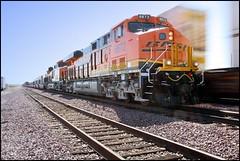 BNSF 6672 -- First Trip West (greenthumb_38) Tags: railroad train locomotive siding 1022mm freighttrain intermodal canon40d jeffreybass bnsf6670 bnsf6671 bnsf6672 bnsf6673