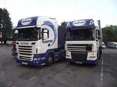Maritime Container Trucks (mslrman) Tags: container maritime trucks scania daf