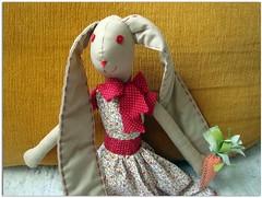 Boa Páscoa!! (Luluzinha por Luiza Cavalcante) Tags: artesanato dinha pascoa cenoura coelha travesseirinho artesanatoemtecido