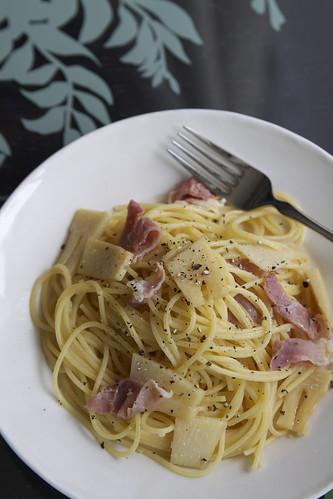 生ハムと筍のスパゲティーニ