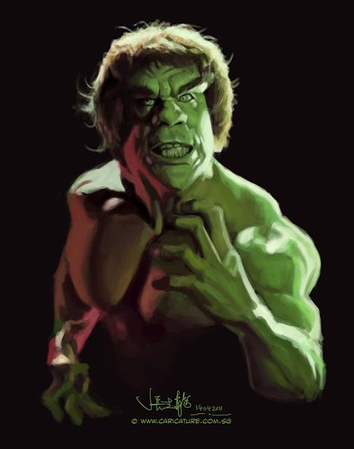 digital sketch study 2 of Lou Ferrigno - 2