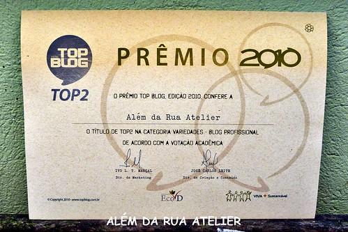diploma prêmio top blog