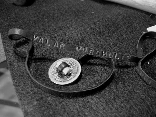 Valar Morghulis Bracelet 1: B&W Closure & Words