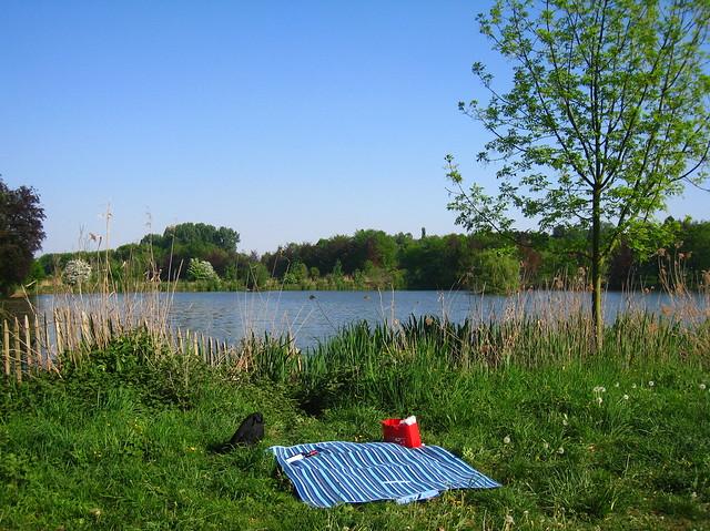 mooi picknickplekje @ vijver Abdij van't Park, Heverlee