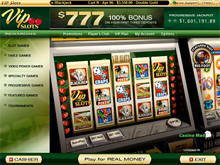 VIP Slots Casino Lobby