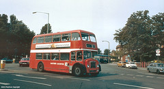 Caister Road at St Paul's Way, Great Yarmouth, 1980 (Lady Wulfrun) Tags: bus buses seaside garage transport august corporation 1980 1980s greatyarmouth austinmini fordcortina easterncounties ecoc austin1100 stpaulsway aecswift caistorroad revohorizon caisterroad revolucidor lfs90