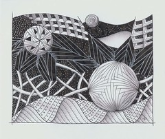 morris challenge 1 (Jo in NZ) Tags: drawing doodle zentangle nzjo