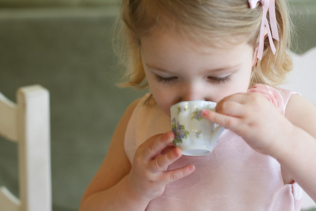 katie drinking tea