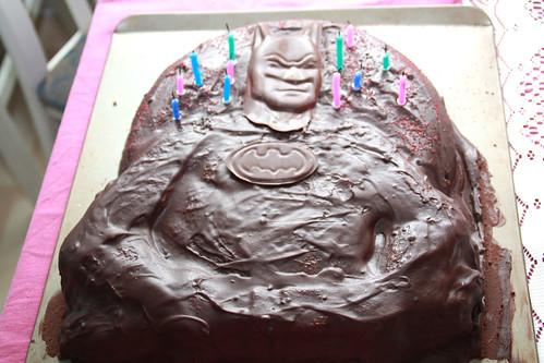 Vegan chocolate batman cake