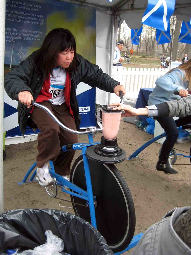 human-powered blender!