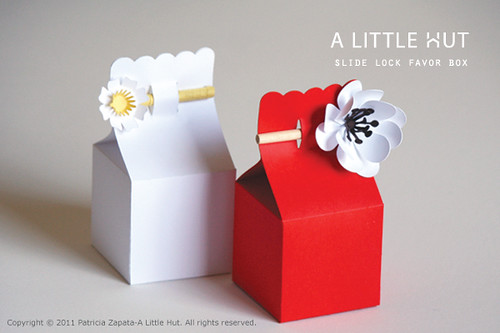 slide lock favor boxes