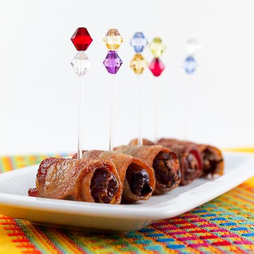 Chorizo Stuffed Bacon Wrapped Dates