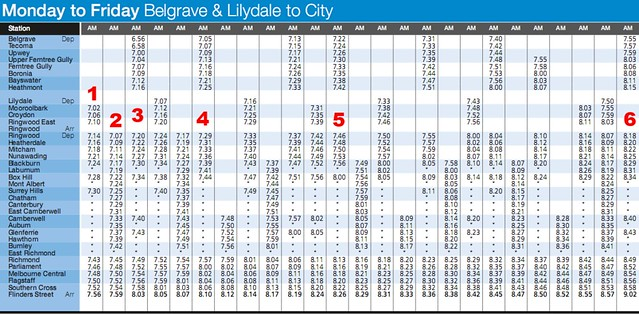 POTD: Train timetables not getting any simpler