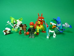 Pokemon Team (Stormbringer.) Tags: monster lego nintendo micro pokemon franchise moc