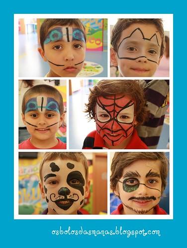 Pinturas faciais  festa Carolina III by Osbolosdasmanas