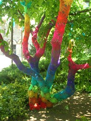 Crochet Coral Tree (babukatorium) Tags: pink blue red orange streetart color tree green art net lana wool yellow circle rainbow colorful purple handmade lace turquoise teal burgundy oneofakind pastel web crochet spiderweb violet shades shade gradient hexagon hippie psychedelic arcobaleno tulle embellished doily multicolor fa whimsical renew haken hkeln croch ganchillo fuxia upcycled uncinetto handdecorated fattoamano  tii horgolt yarnbombing decoratoamano babukatorium