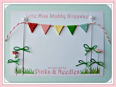 little miss shabby giveaway (Pinks & Needles (used to be Gigi & Big Red)) Tags: party flower cute mushroom garden miniature blog little blossom banner mini cutie polkadots giveaway bunting shabby cutness gigiminor littlemissshabby