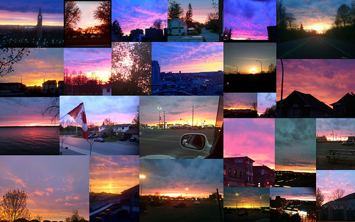 May 15 Sunset in Ottawa (collage)