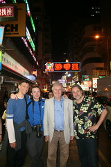 The Dangerous Crew, Dan, Damian, Richard and Shawn - Last shot in Mongkok among the neon lights before packing the crew off to the airport and onto Australia