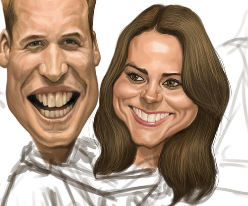 Prince William and Kate Middleton digital caricature - 5