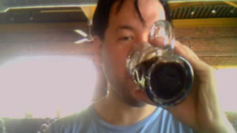 Drinking Mackinac Fudge Stout at the Corner Brewery