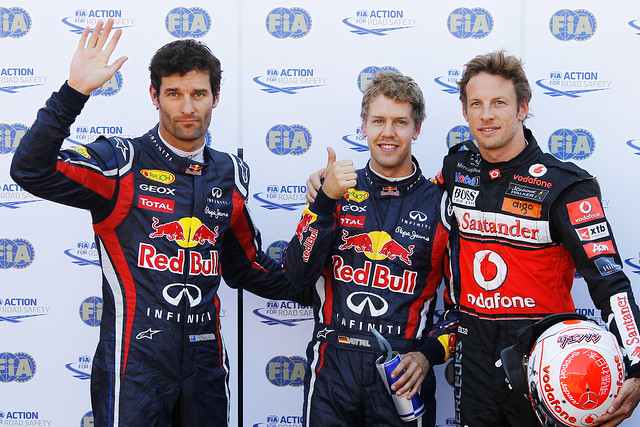 Vettel, Webber and Button at Mocaco GP