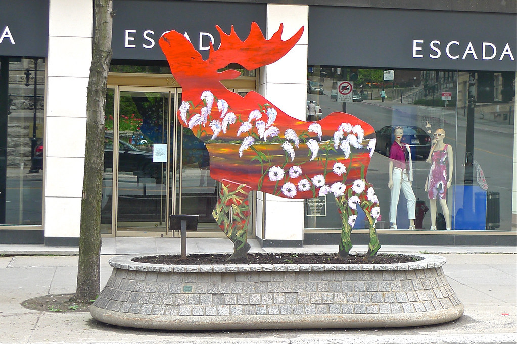 Copyright Photo: Moose Sculpture on Sherbrooke Street by Montreal Photo Daily, on Flickr